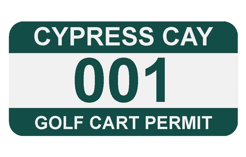 Golf Car Permit
