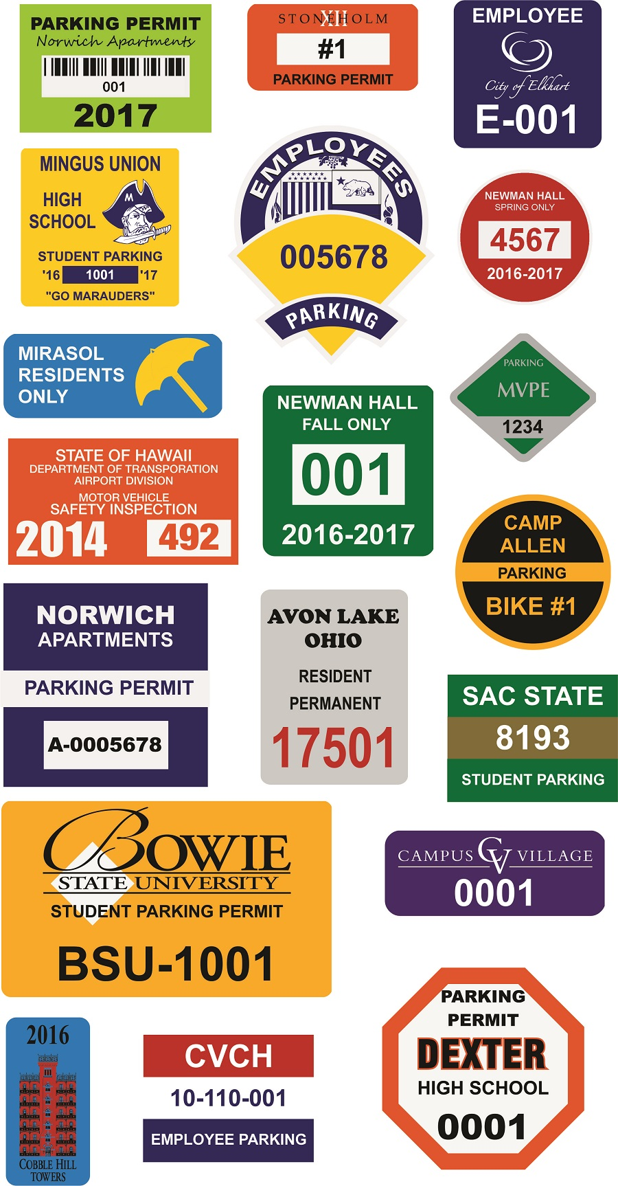 Parking Permit Samples